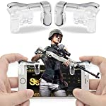 K3 PUBG Mobile Game Controller, Gamers Yard 1 Pair Sensitive Game Triggers for PUBG/Knives Out/Rules of Survival L1R1...