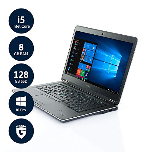 "Dell Latitude E7440 Ultrabook | 1 J. Garantie | 35.6cm (14"") HD | Intel Core i5 bis zu 2.9GHz | 8GB RAM | 128GB SSD | Fingerprint | Win10 Pro | Softwarepaket | (Zertifiziert & Generalüberholt)"
