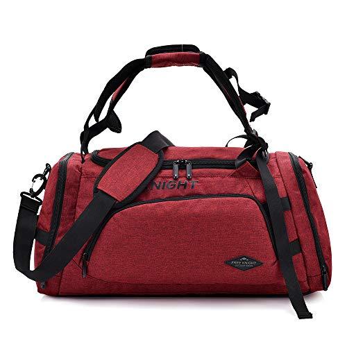 Huanxin Sport-Sporttasche, 35 l wasserdichte, Faltbare Taschen, mit Schuhfach, für Unisex Weekend Daypack Große Reisetasche,c