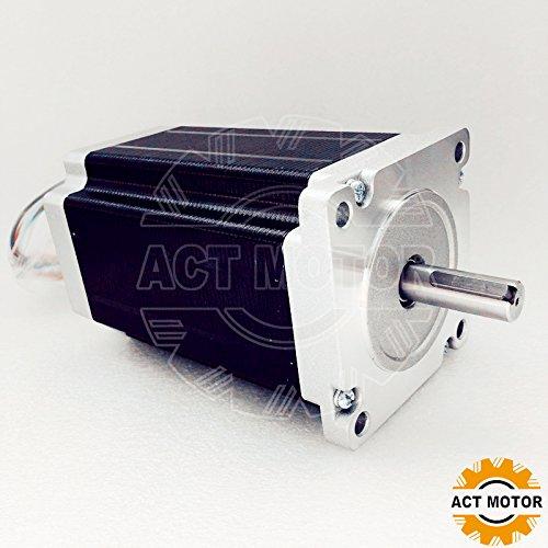 ACT Motor GmbH 1PC Nema34 Stepper Motor 34HS5460D12.7L34J5-1 150mm 12Nm 5A keyway shaft