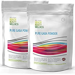 GABA POWDER | 2x 500g (1kg / 1000g) Großpackung XXL | - 100% Ohne Zusätze | Reines Gamma Amino Buttersäure Pulver | Wachstumshormon-Ausschüttung | Muskelaufbau Regeneration Schlaf-Qualität