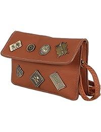 Tamirha Pretty Brown Unique Style Sling Bag
