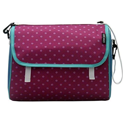 C-BAGS INDYGO single POLKA DOTS Gepäckträger Fahrradtasche verschiedene Muster (pink-rose)