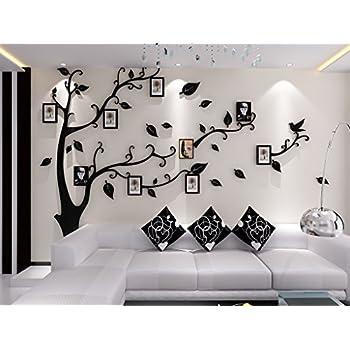 Alicemall stickers arbre cadre photo stickers muraux salon arbre sticker mural 3d stickers muraux tv autocollants