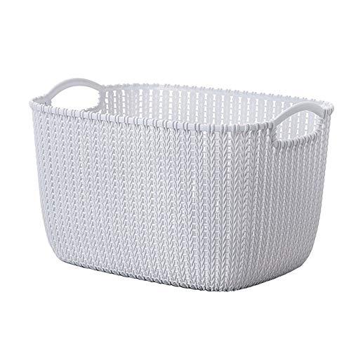 ZengBuks Kunststoff Weben Rattan Korb Multifunktionale Badezimmer Dusche Aufbewahrungskorb Schutt Speicher Organizer Mit Griff -