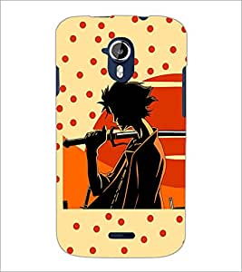 PrintDhaba Sword Boy D-2993 Back Case Cover for MICROMAX A116 CANVAS HD (Multi-Coloured)