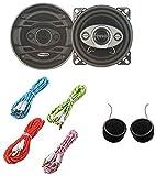 Worldtech Onmca_387 Wt-405Sp - 4 Inch Speakers With 4 Aux Wire & Tweeter Set