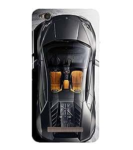 PrintVisa Designer Back Case Cover for Xiaomi Redmi 4a (Fast Black Car)