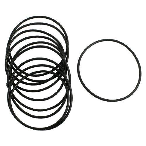 Preisvergleich Produktbild 10Stück 2,5mm x 65mm Gummidichtung Ölfilter O Ringe Dichtung Schwarz