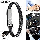 Y56 Mode Sport-Armband Mikro-USB/Type-C Ladegerät-Kabel für Telefon-Daten-Linie Draht Portabl Kabel (22.5 cm, Type-C)