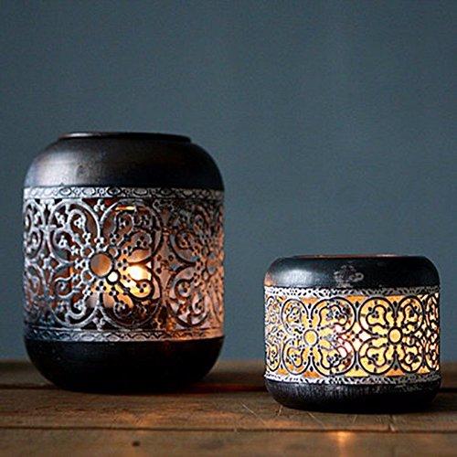JinYiDian 'Shop-Sepia Alten geschnitzten Bügeleisen kreative kleine Kerze/bar an den Esstisch mit Teil-/Home dekorative Handwerk, Klein, 9 * 7,5 cm