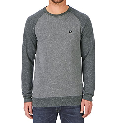 Herren Sweater Rip Curl Zinc Block Crew Sweater Grau