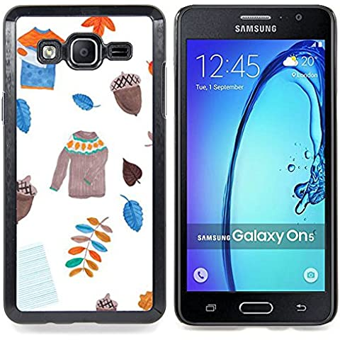 For Samsung Galaxy On5 O5 Case , Dejadores suéter blanco Acorn