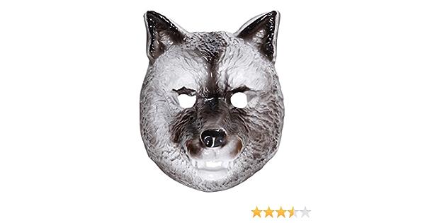 TOYANDONA Masque de t/ête de Loup Gris Halloween Cosplay Costume de Loup Masque Masque Complet