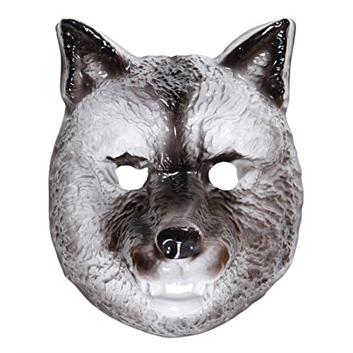 lfskopf Tiermaske Plastik Wolfsmaske Kindermaske Tier Faschingsmaske Hund Tierkostüm Zubehör (Wolf Hund Kostüm)