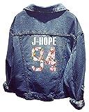 SERAPHY Unisex BTS Jeansjacke für Army BTS KPOP Hoodies Kapuzenpullover Suga Jin Jimin Jung Kook J-Hope Rap-Monster V-HZ-94J