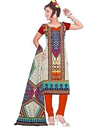 BalajiWomen's Crepe Unstitched dress material(203-multicolor-free size)