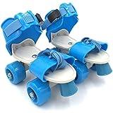 Protokart Pro Roller Skates For Kids, Quad Roller Skates, 4 Wheel Adjustable Skates, Adjustable Inline Skating Shoes, Age Group 5-12 Years (Blue)