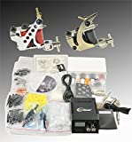 Complete Tattoo Kit 2 Tattoo Machine Kit With Power Supply And Tattoo Needles By Fancierstudio A04 by eyepower