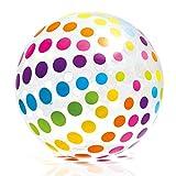 Jumbo XXL Wasserball Strand Pool Schwimmen Ball 107 cm mit bunten Punkten