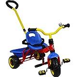 L&E Dreirad Kinderdreirad Roller Schiebestange Fahrrad Kinder Rad Jungen Mädchen 360