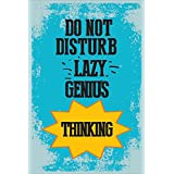 LOOK DECOR Lazy-genius THINKING Poster For Room Inspiring Design Collection Quotes And Messages Posters. Posters For Boys And Girls Wall Decals For Home And Office Poster For Study Room Gym Poster Motivational Messages Funny Funky Cool Captions And Saying