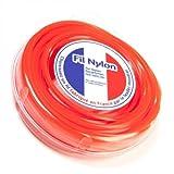 Fil nylon 4 mm x 9 m. Carré. Orange. Blister. Fil débroussailleuse - Pièce neuve