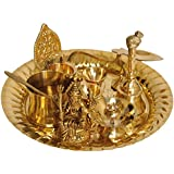Exotic India Lord Shiva Puja Thali with Lakshmi Ji Diya - Brass