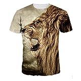 3D Imprimé T-Shirt à Manches Courtes T-Shirts,Covermason Hommes T-Shirt 3D Creative à Manches Courtes Imprimé Graphique Occasionnel Top Tees Grande Taille M-4XL (Multicolor, S)