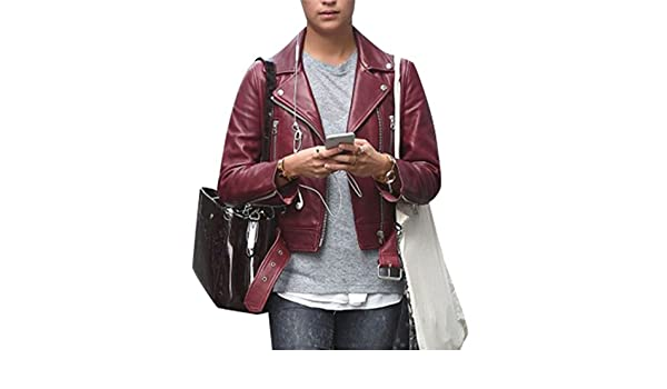 99affbca3 Jason Bourne Alicia Vikander Womens Maroon Leather Jacket - Red ...