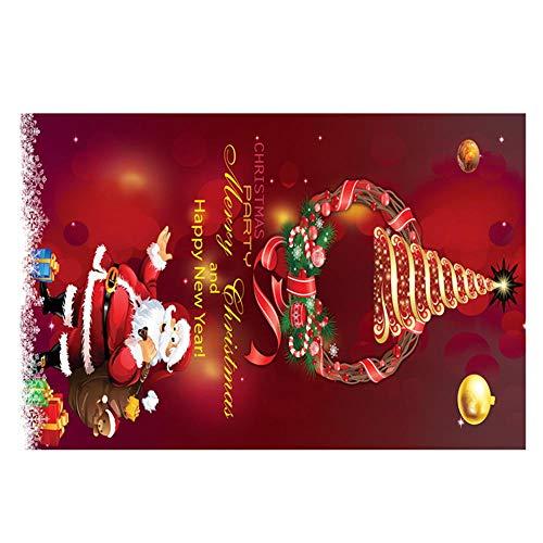 (Mitlfuny Weihnachten Home TüR Dekoration 2019,Frohe Weihnachten Willkommen FußMatten Indoor Home Carpets Decor 40x60CM)