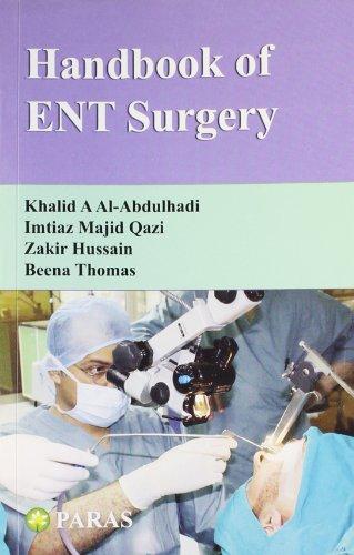Handbook Of Ent Surgery