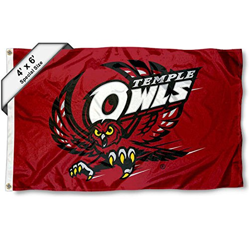College Flags and Banners Co. Tempel Eulen 4'x6' Flagge