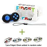 Fidget Pad + Fidget Chain by Cosy Zone - 2ème Génération Fidget Toy Cube - Réducteur de Stress Fidget Cube, Parfait pour le Stress et l'anxiété, le Soulagement du Stress, le ADAH, ADD, l'Autisme (Bleu)