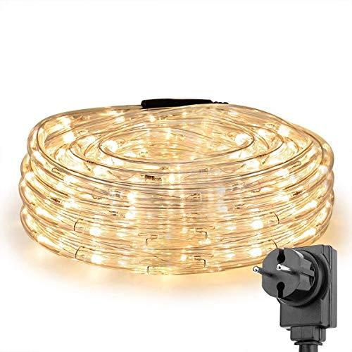Lighting EVER LE 10m LED Lichterschlauch 240 LEDs wasserfest IP65, Strombetrieben mit EU-Stecker, für Innen Außen Party Hochzeit Weihnachten Dekolicht Warmweiß
