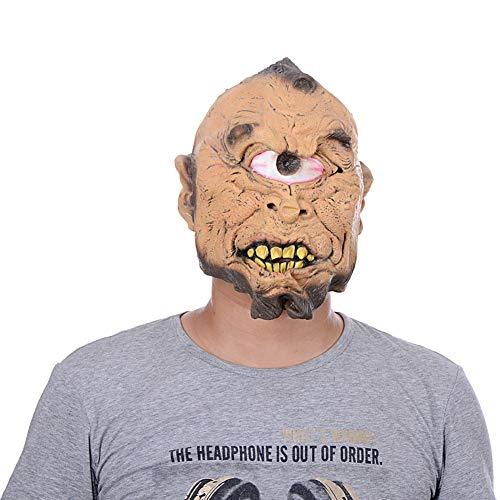 JUNGEN Grimassenmaske Horror Kopfbedeckung Halloween Dekoration für Karneval Party