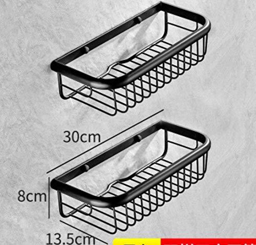 4-korb-speicher-warenkorb (WYMBM Regale Badezimmer Kupfer dreieckigen Korb an der Wand montierten Schwarze Ecke Regal Doppel-Store Warenkorb Regale, 4)