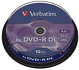 Verbatim 10 x DVD+R DL - 8.5 GB 8x - mattes Silber - Spindel - Speichermedium