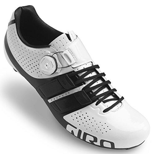 Giro Factor Techlace Road, Zapatos de Ciclismo de Carretera para Hombre, (White/Black 000), 41.5 EU