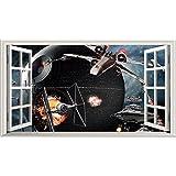 Póster de Star Wars V015magia ventana pared vinilo adhesivo pared arte tamaño 1000mm de ancho x 600mm de profundidad (tamaño grande)