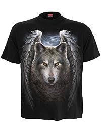 Spiral T-shirt pour homme Motif Lycos Wings Noir