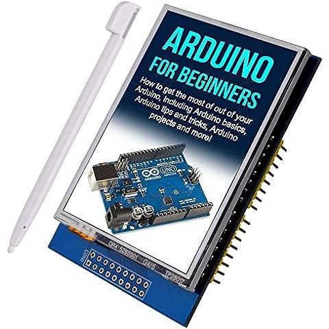 Kuman UNO R3 2.8 Pulgadas TFT de Pantalla Táctil con Conector de Tarjeta SD para Arduino Nano Mega2560 320x240 2.8