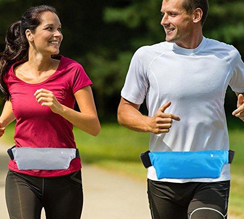 LAAT Outdoor Sports Waist Packs Unsichtbare Anti Diebstahl Taschen Ultra Slim Fitness Gürtel Laufen Handy taschen Radfahren Wandern Wandern 25.5 * 9CM Grün