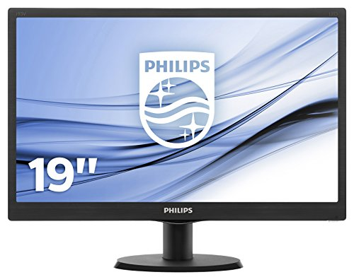 Philips 193V5LSB2 18.5 inch V-Line LED panel Monitor (1366 x 768 p, DDR3 SDRAM, 8.76 W) - Black UK
