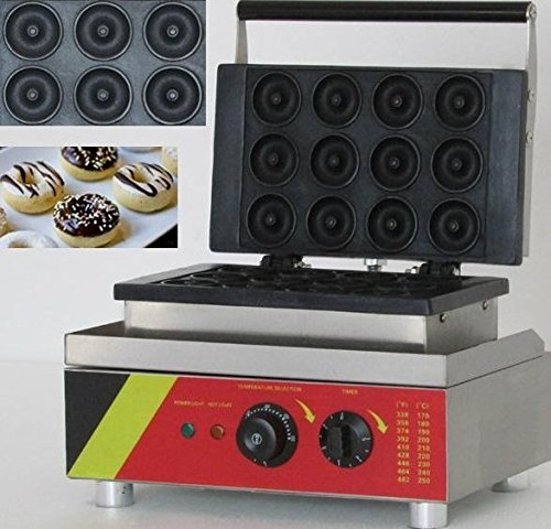 12pcs eléctrico Sweet eléctrica en forma de rosquilla Donuts tarta utensilio cocina utensilio de hierro Pan Panificadora no-stick CE certificación 220V–240V