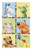 Die Lieben Sieben Kinderteppich Weich und Soft, 80x150 cm Farbe Bunt, Teppich mit Bildmotiv für Jungen und Mädchen, Kinderzimmer-Teppich Öko-Tex zertifiziert