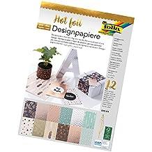 folia 11549 - Designpapierblock Hotfoil, DIN A4, 12 Blatt