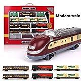 Wetour - Set di piccoli binari ferroviari, modello di simulazione di Waggon, treno a batteria