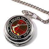 Cameron (antigua) escocés Clan escudo reloj de bolsillo