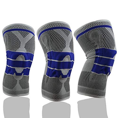 Taihang Les genouillères sportives renforcent les coussinets de genou de basket-ball de support de ressort professionnel en silicone anti-collision d'équitation de randonnée en cours d'exécution de fi
